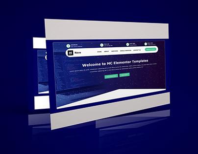 Download free Elementor header template 21