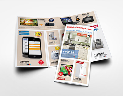 Products Catalogs Tri-Fold Brochure Template Vol.1