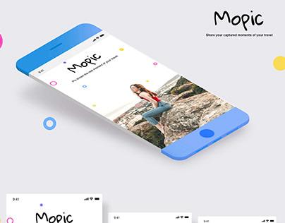 Mopic Mobile app UX UI