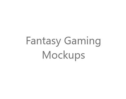 Fantasy Gaming Mock-Ups (UI/UX)