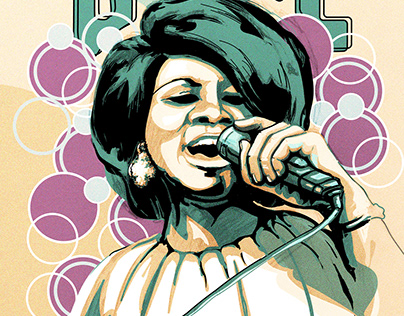 Aretha Franklin Illustration