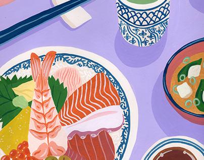 Japanese Food Paintings