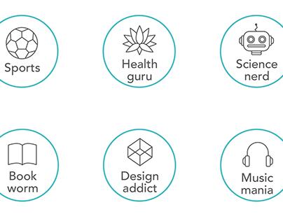 Descriptor Icons & App UI - Wisher