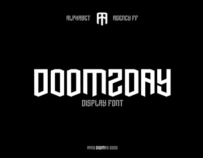 Doomzday Display Font
