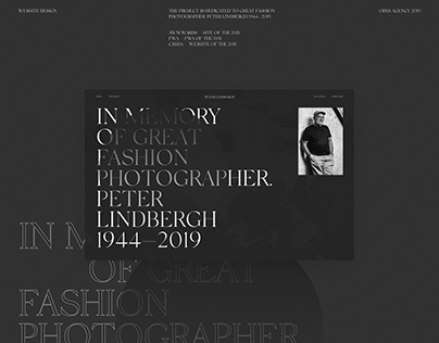 Peter Lindbergh Website Design