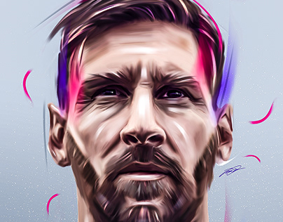 G.O.A.T Lionel Messi Artwork