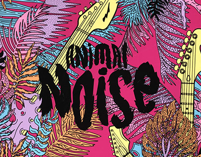 Animal Noise, coloring book