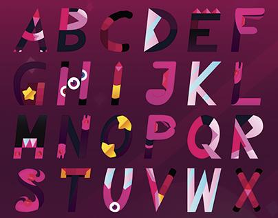 Garnet | Alphabet + Poster