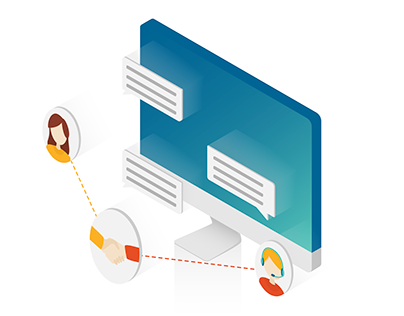 Isometric illustration - Agency's competences