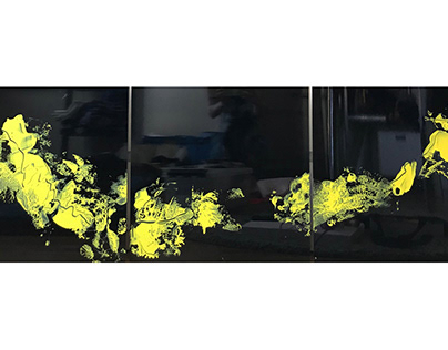 """Triptych """"BE A BEE"""" I 150x50cm"""