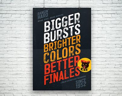 Black Cat POS Poster Series