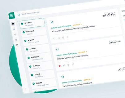Quran Web App Redesign