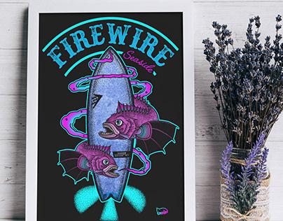 Illustration Firewire Seaside
