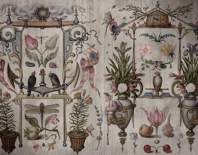 "Mural ""Ancient fantasies for nature"""