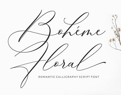 Wedding Fonts - Boheme Floral by 50Fox