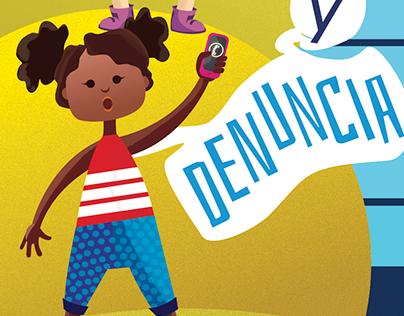 Afiche informativo para abordar la violencia infantil