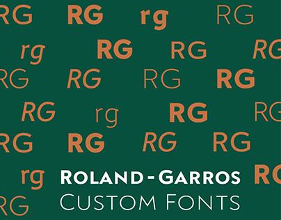 Roland-Garros Bespoke Fonts