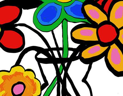 Digital flower studies