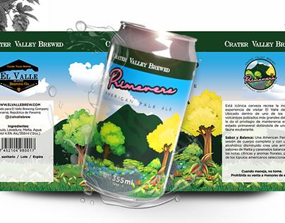 Label o etiqueta para Cerveza Artesanal Primavera