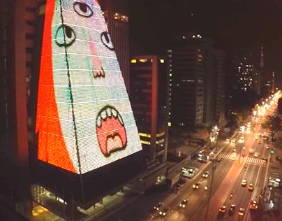 VJing at Paulista Av.
