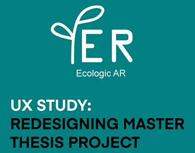 UX study: Redesigning master thesis project