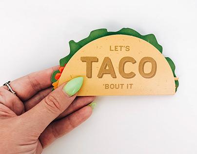 Taco Die-Cut Greeting Card