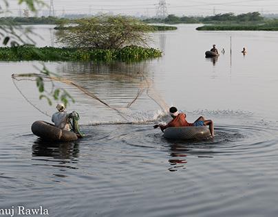 Fishermen of Najafgarh Jheel