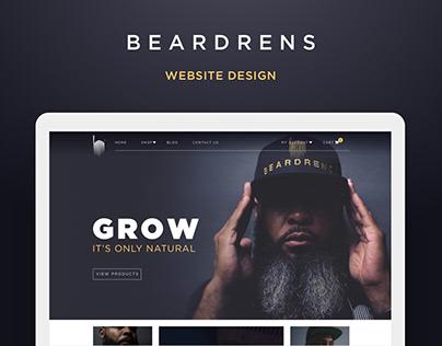Beardrens Website Design