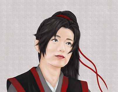 Xiao Zhan in Wei Wu Xian character Fanart