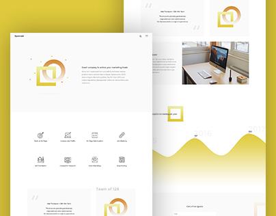 Creative landing page design for SEO company