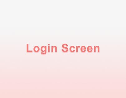 Login Screen