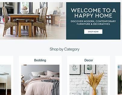 Home & Decor Landing Page