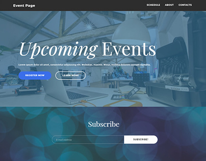8b | Awesome Event Website Template!