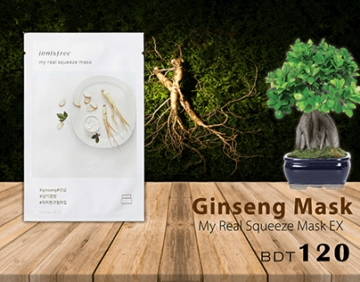 Designed Ginseng Face Mask Pack
