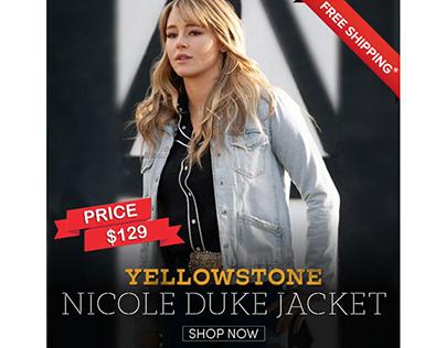Yellowstone S03 Girlfriend Denim Nicole Duke Jacket