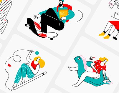 Lineart illustrations