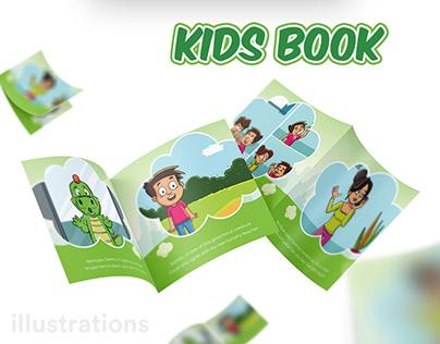 The Polite Dinosaur - Book Illustration