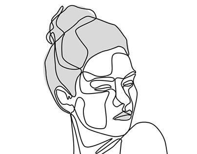 Print 61x91 -Woman-line