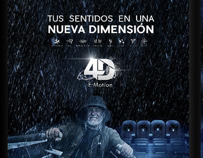4D graphic campaign for Village Cinemas