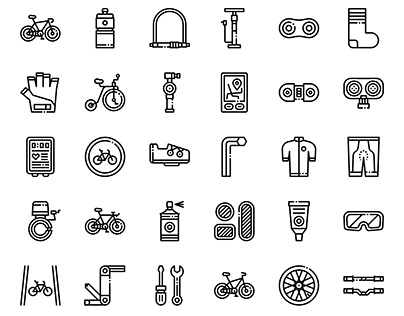 Bicycle accessories icon (free download)
