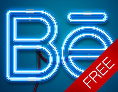 Free neon mock-up
