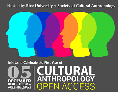 Society of Cultural Anthropology Event Poster