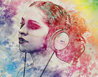 Acuarelas Ejercicio / Watercolor Effect