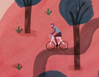handmade bike illustrations