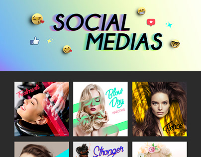 Social Medias - Beauty Salon, Hair Styling promos