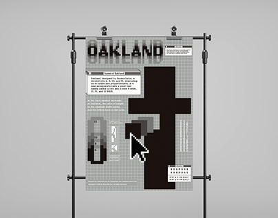 Typeface poster for OAKLAND