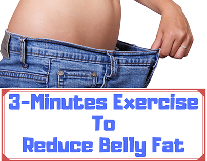 3 Minutes Exercise To Reduce Belly Fat