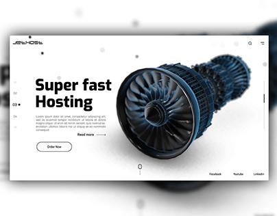 Hosting Website Concept