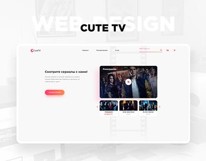 CuteTV. Web-design