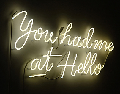 Hello Monday - Neon Sign